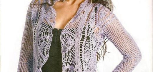 Bolero crochet formal