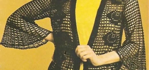 Chaleco crochet calado media manga