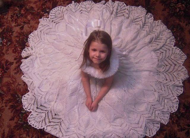 Crochet Vestido niña elegante