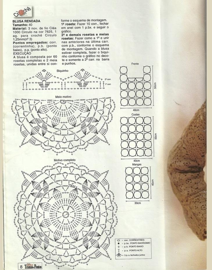 Esquema Polera crochet manga largaa1