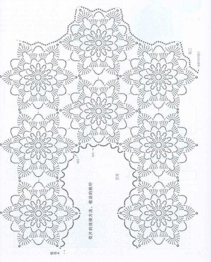 Esquema blusa crochet motivo1