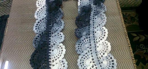 Esquema bufanda en crochet
