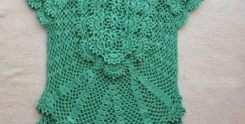 Ganchillo blusa novedosa