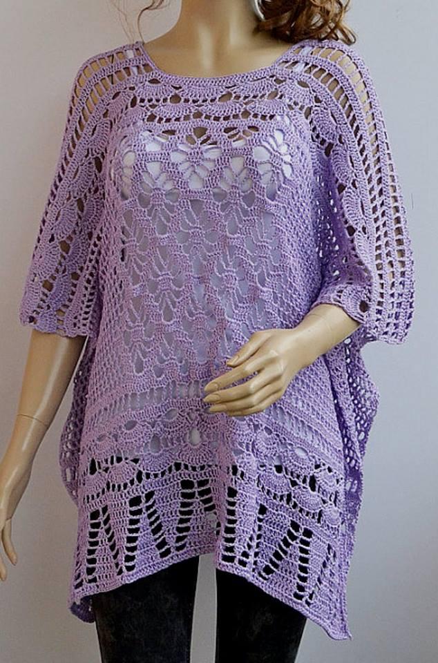 Gráfico crochet poncho