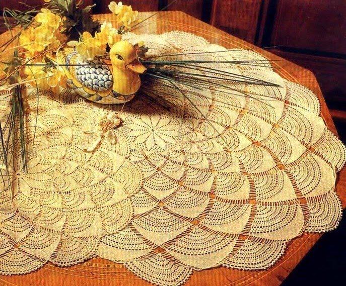 Gráfico mantel crochet novedoso