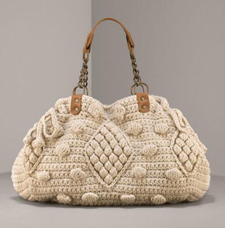 Modelo de bolso crochet