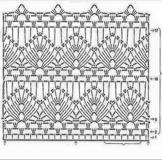 Patrón Blusa crochet manga larga1