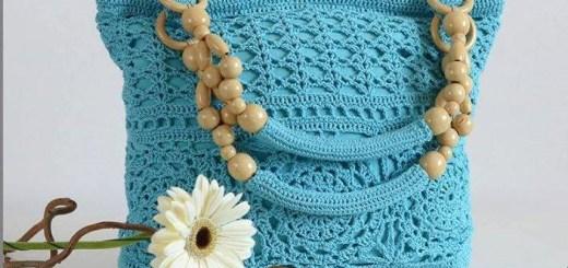 Patrón de bolso tejido con gancho