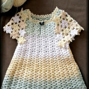 Vestido crochet niña novedoso