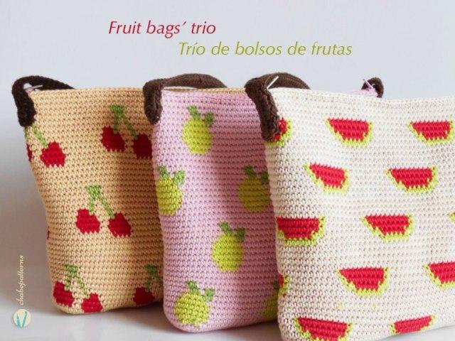 Patrón Crochet Bolsos Frutales