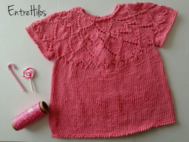 patrón gratis jersey bebé calados dos agujas