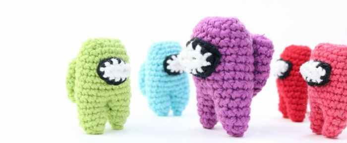Among Us tripulante amigurumi crochet