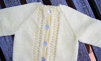 Patrón gratis chaqueta Christian bebé dos agujas