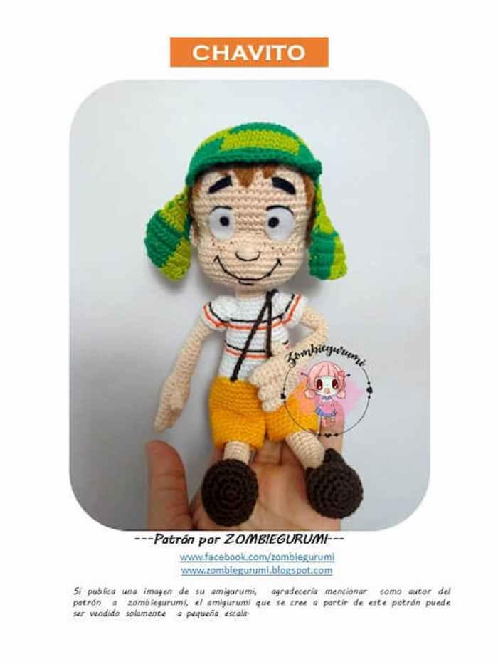 Patrón gratis chavito amigurumi crochet