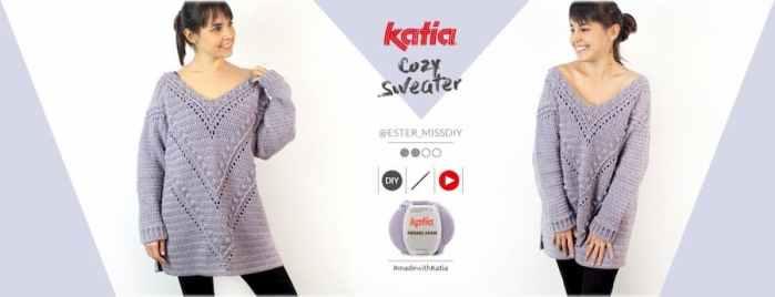 Patrón gratis maxi jersey cozy crochet