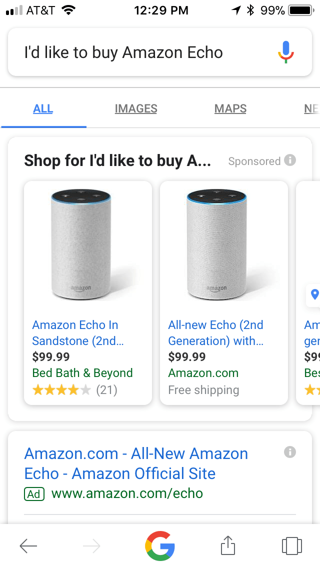 GOOG Echo search