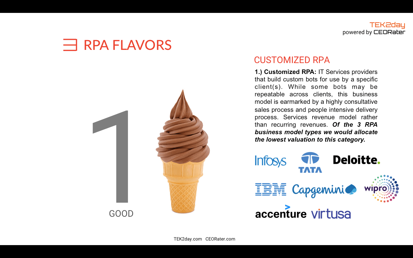 The 3 RPA Flavors - TEK2day