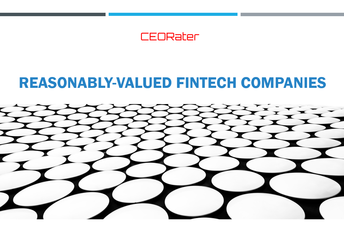 FinTech Companies with Reasonable Valuations
