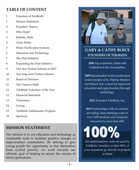 annual report page 2