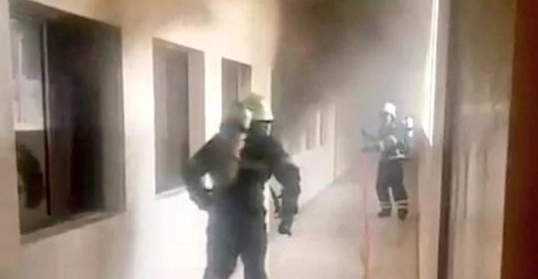 إخماد حريق شب في أحد المدارس بصلالة - تقني نت عمانيات