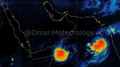 Photo of آخر أخبار العاصفة المدارية مها و المنخفض المداري كيار