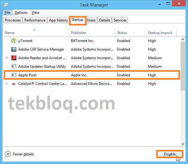 How to Enable or Disable Startup Programs in Windows 10 | TekBloq