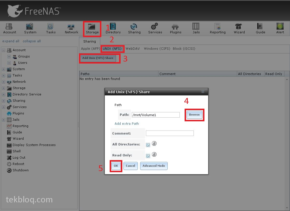 How to configure NFS on FreeNAS with VMware vSphere(ESXi