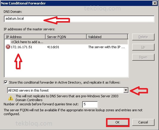 Add a Conditional Forwarder on a DNS Server – Windows Server