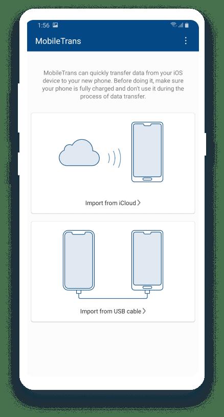 Hướng dẫn chuyển data từ iOS sang Android bằng MobileTrans