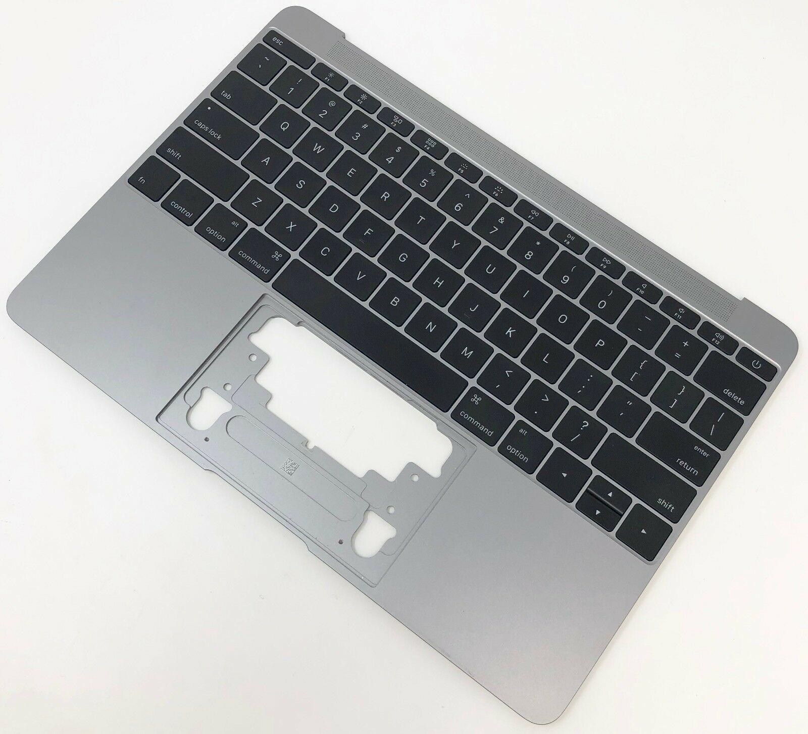 "Apple Macbook Retina 12/"" A1534-2015 Silver Palmrest Touchpad 613-01195-A"