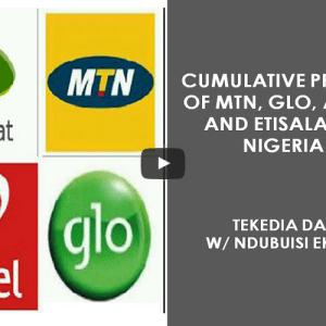 Cumulative Profits of MTN, Glo, Airtel And Etisalat In Nigeria
