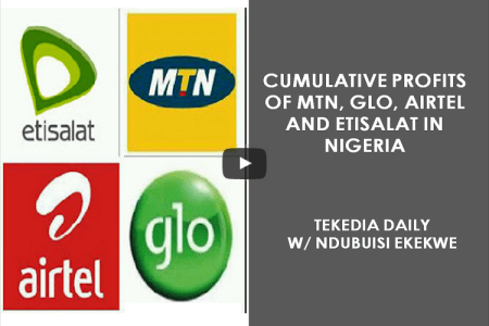Cumulative Profits of MTN, Glo, Airtel And Etisalat In Nigeria