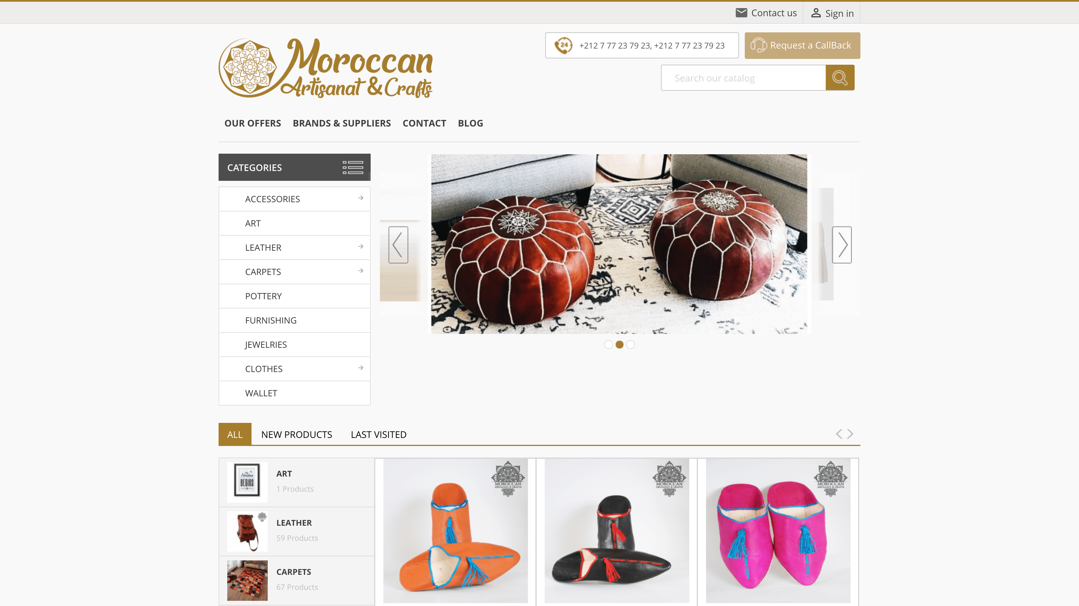 moroccan artisanat and crafts