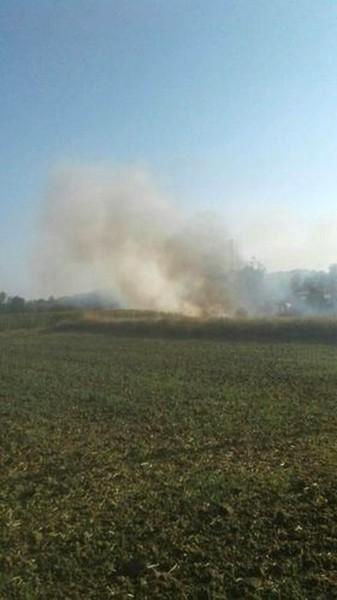 Biçerdöverciye kızdı, buğday ekili tarlasını yaktı