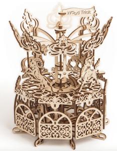 木製3Dパズル模型カルーセルメリーゴーランド