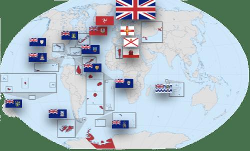 世界地図で見る英国領土