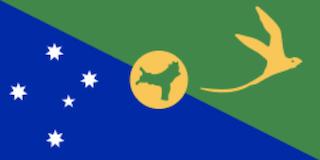 クリスマス島の国旗地域の旗