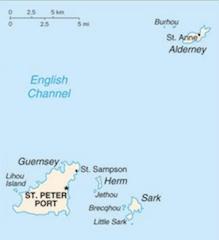 英国領ガーンジーの地図