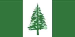 ノーフォーク諸島の国旗地域の旗