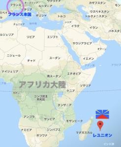仏領海外県レユニオンのある地図上の場所