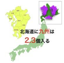 北海道に九州は2.3個入る