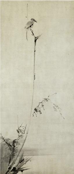 紙本墨画『枯木鳴鵙図』〈宮本武蔵筆〉
