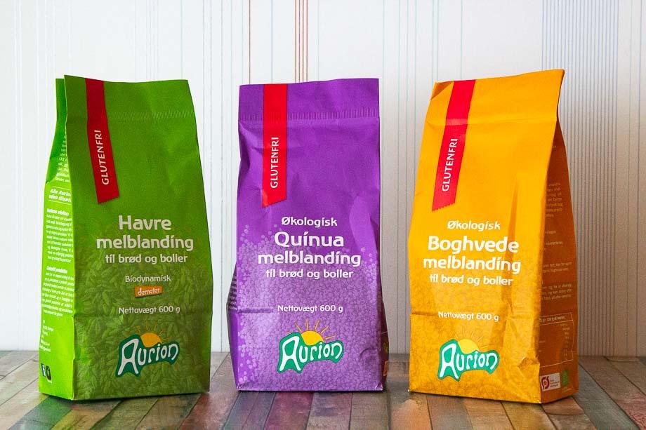 Glutenfrie bageblandinger fra Aurion