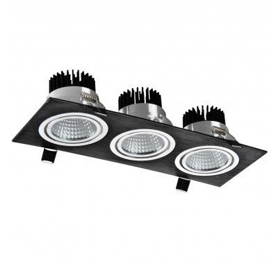 LED OC002C 3Х5W 3000K BLACK