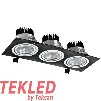 LED OC004C 3Х10W 3000K BLACK
