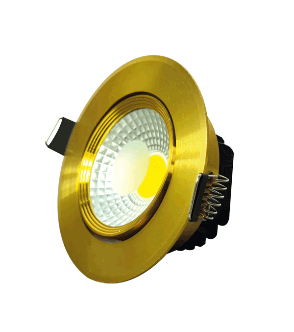 Spot LED COB 5W GOLD 6000K (HAIGER) 60pcs