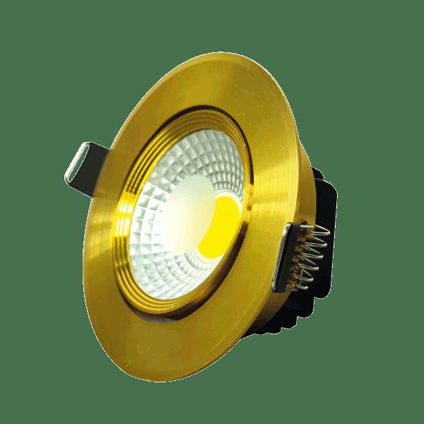 Spot LED COB 5W GOLD 6000K (HAIGER) 60pcs