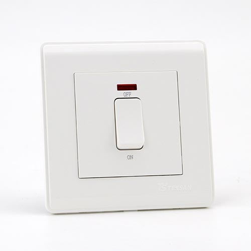 PRIME WHITE 20A DP 1 GANG Switch (TS)100
