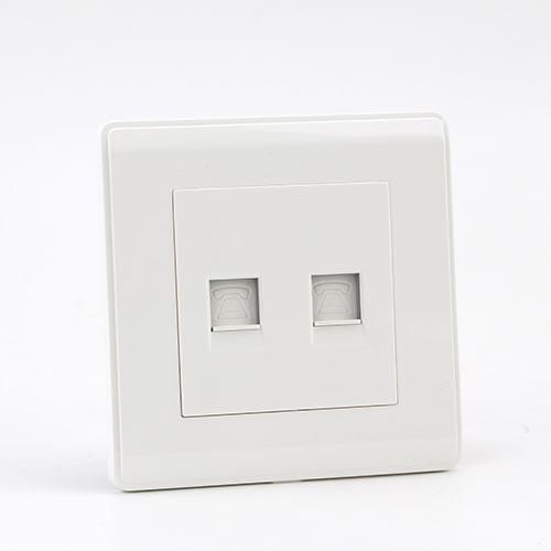 PRIME WHITE 2 GANG COMPUTER Socket (TS) 100