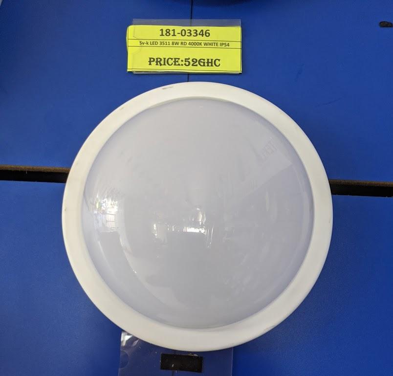 Sv-k LED 3511 8W RD 4000K WHITE IP54 (TT)24sh,13sh